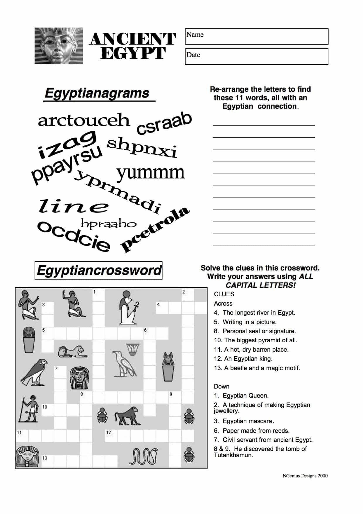 20 Egyptian Number System Worksheet