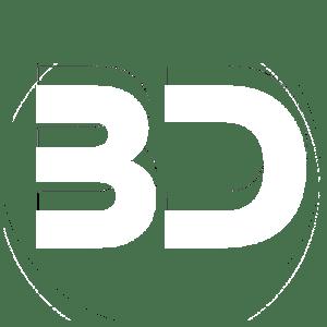 Emblema Black Diamond con BD blanca y fondo transparente