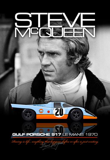 McQueen Porsche Poster