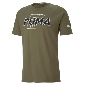 Puma MODERN Sports Logo Tee-Burnt Olive