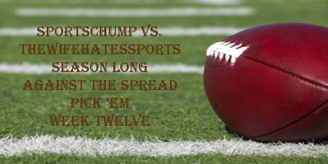 Week Twelve Against The Spread Pick 'em Sportschump Vs Kp Vs Ken Fang  Sports Chump