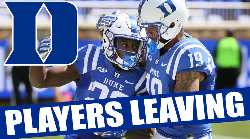 Duke Football Players Leaving From 2017 And Who Will Be Back