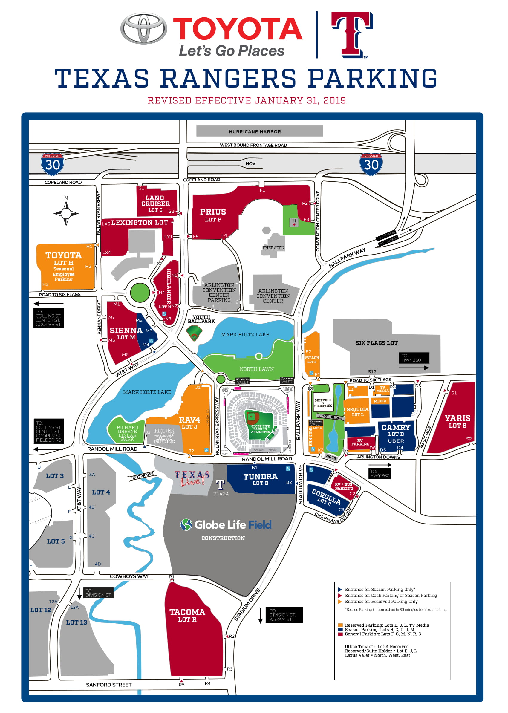 Att Parking Map : parking, Rangers, About, Parking, Globe, Season, Before, Games, Begin