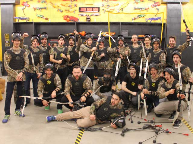 bachelor party combat archery montreal