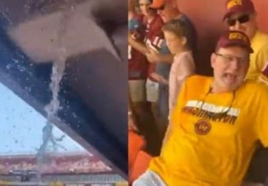 Video: Washington Football Team Fans Get Sprayed With Sewage After A Pipe Bursts At FedEx Field