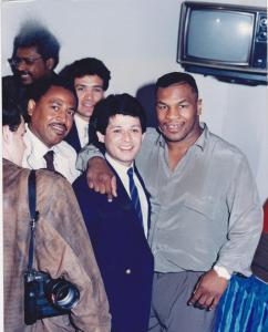 Con el gran Mike Tyson...