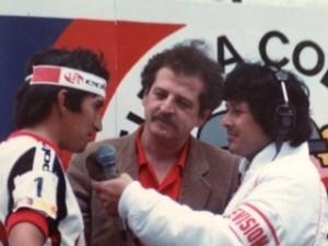 Con Lucho Herrera y el Dr. Luis Carlos Galan.
