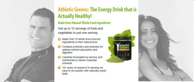 Athletic greens high energy food for busy people