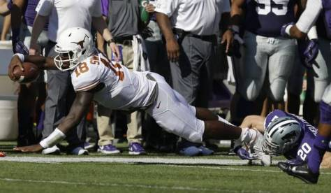 Tyrone Swoopes could not get anything going against K-State (Orlin Wagner / AP Photo)