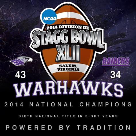 (Photo Courtesy of Wisconsin-Whitewater's Twitter Account @WarhawkFootball)