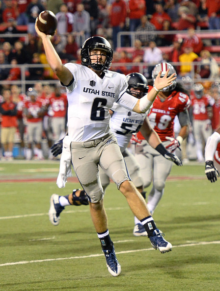 Utah State QB Darell Garretson against UNLV in 2013 (Ethan Miller/Getty Images North America)