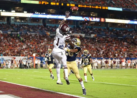 Top Mississippi State receiver De'Runnya Wilson was arrested on Friday night (Marc Serota/Getty Images North America)