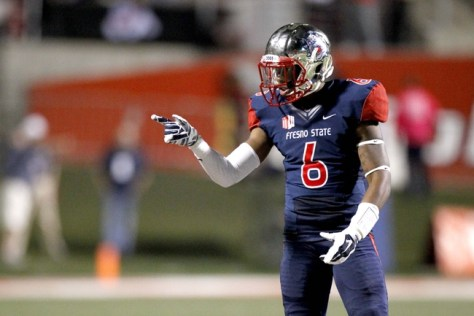 Delvon Hardaway lines up against San Diego State in 2014 (Cary Edmondson/USA TODAY Sports)