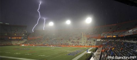Idaho at Florida was cancelled in 2014 due to inclement weather (Phil Sandlin / AP Photo)