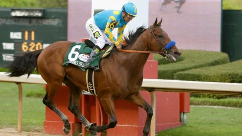 It was another easy victory for American Pharoah in the Grade 1 Arkansas Derby (Danny Johnston / AP)