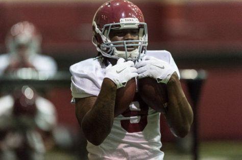 Alabama running back Bo Scarbrough at practice in March 2015 (Vasha Hunt/vhunt@al.com)