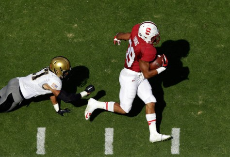 Kelsey Young breaks loose for Stanford against Army in 2014 (Ezra Shaw/Getty Images North America)