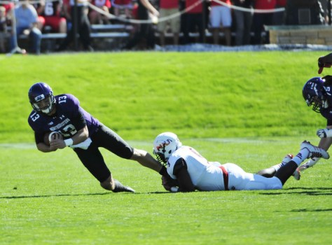 Rasheen Lemon makes a tackle against Northwestern in 2014 (David Banks/Getty Images North America)
