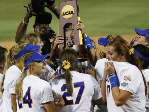 The Florida Gators won the 2014 Women's College World Series. Can they become the first back-to-back winner since Arizona in 2006 and 2007? (Sue Ogrocki/AP Photo)