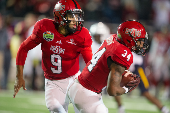 The duo of Fredi Knighten (#9) and Michael Gordon (#34) are hoping to continue Arkansas State's reign as the best team in the Sun Belt over the past five years. (Michael Chang/Getty Images North America)