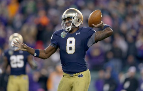 Malik Zaire is the future for Notre Dame at quarterback. (Andy Lyons/Getty Images North America)