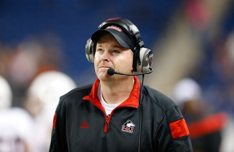 Northern Illinois has made five straight MAC Championships. Will it be six in a row in 2015 and third straight under Rod Carey? (Leon Halip/Getty Images North America)