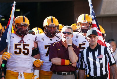 Todd Graham is back for his fourth year at Arizona State in the deep Pac-12 South Division. (Christian Petersen/Getty Images North America)