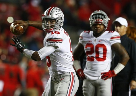 JT Barrett was named starter earlier this week and the Ohio State offense looked great under his guidance. (Rich Schultz/Getty Images North America)