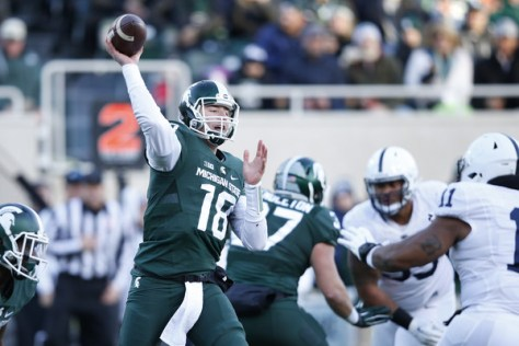 Connor Cook returned and Michigan State dominated Penn State on Saturday. (Joe Robbins/Getty Images North America)