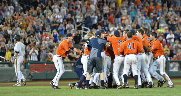 Virginia defeated Vanderbilt to win the 2015 College World Series. Who will win in 2016? (Peter Aiken/Getty Images North America)
