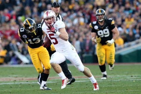 Christian McCaffrey had a great 2015 season and is considered one of the favorites or the Heisman in 2016. (Stephen Dunn/Getty Images North America)