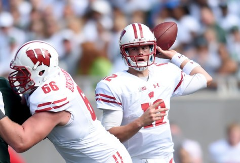 Alex Hornibrook had a solid first start on the road at Michigan State in Wisconsin's 30-6 win. (Bobby Ellis/Getty Images North America)