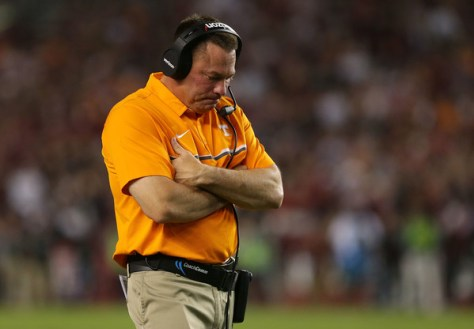 Despite three straight losses in SEC play, Tennessee is still alive in the SEC East division. Their opponent in week 11, Kentucky, is also still alive to win the SEC East. (Tyler Lecka/Getty Images North America)