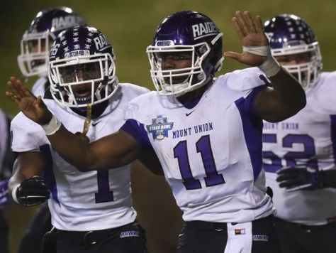 Mount Union, pictured above winning the 2015 Stagg Bowl, will have a new hurdle in 2016: Starting the playoffs on the road. (AP Photo).