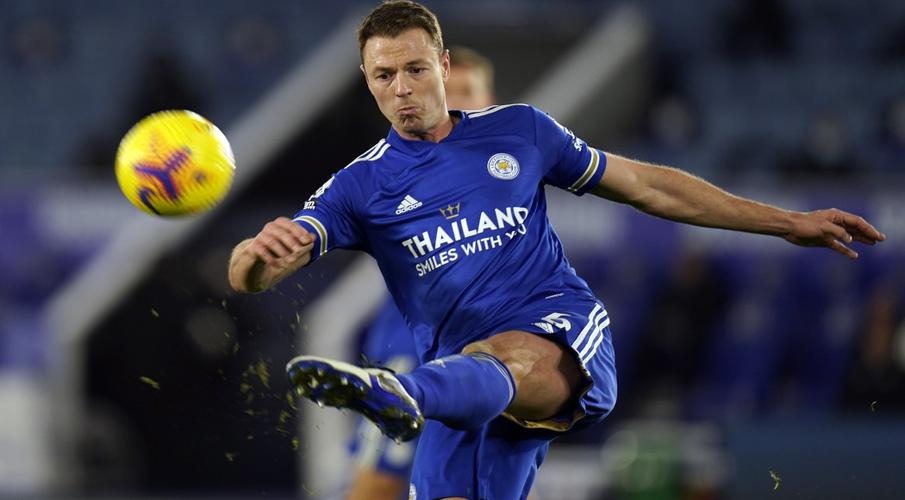 Leicester's Evans faces late fitness test for United game