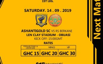 Asahntigold release gate fees for RS Berkane game