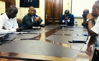 GFA President, Council Members interact with staff