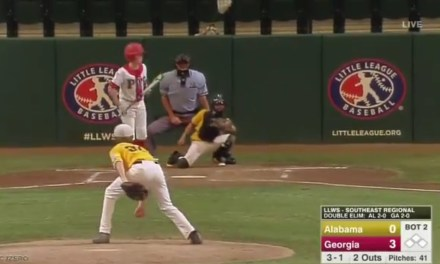 Little League Umpire Calls Strikes on a Couple of Terrible Pitches