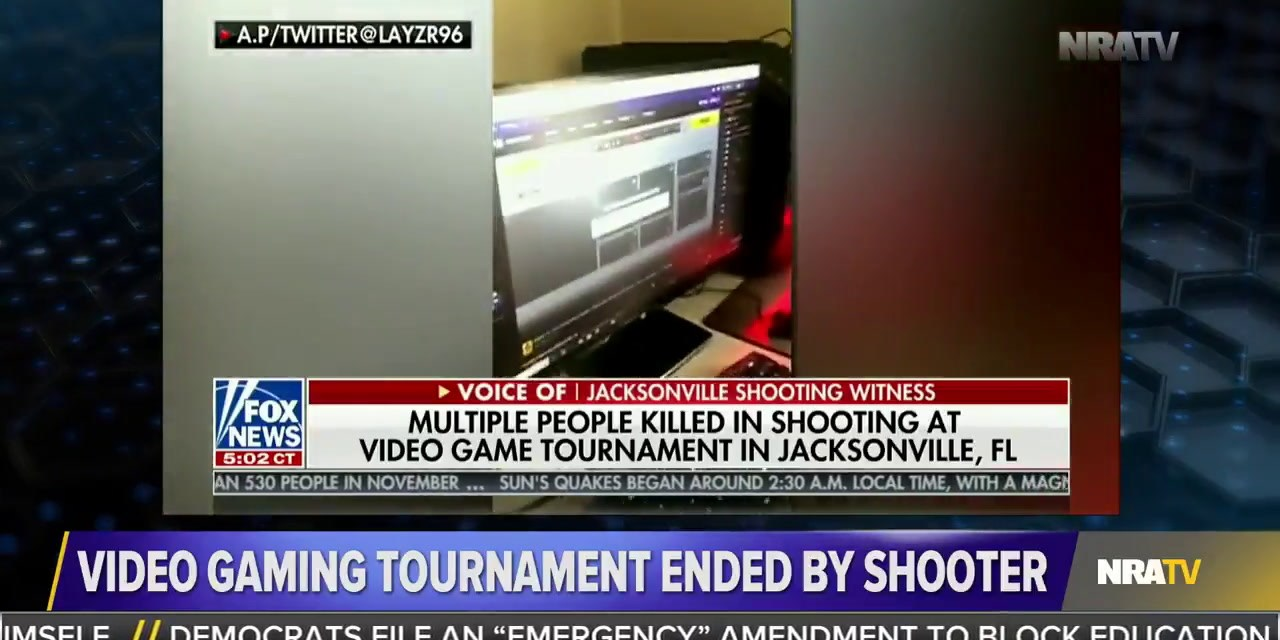 NRATV host criticizes survivor of Madden tournament shooting for supposedly not hearing gunshots over his headphones