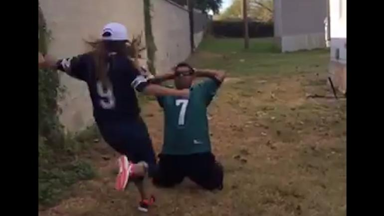 LOOK Eagles fan loses most painful bet ever to Cowboys