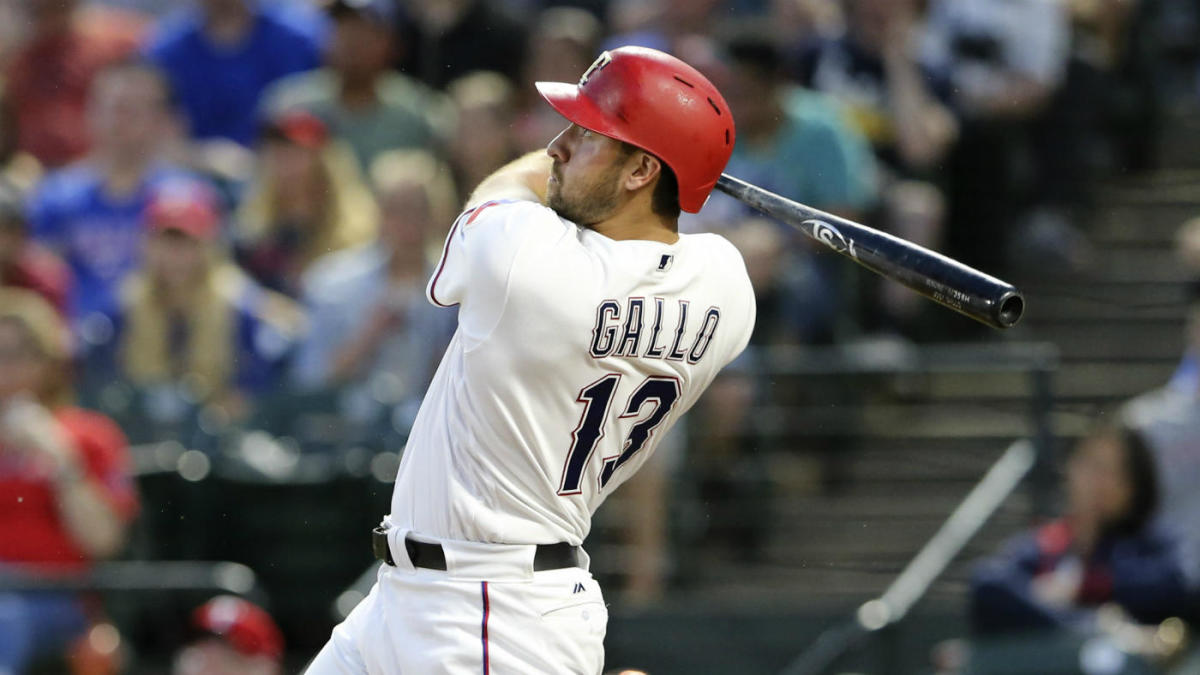 WATCH: Joey Gallo hits home run so far his Rangers teammates can't believe it - CBSSports.com