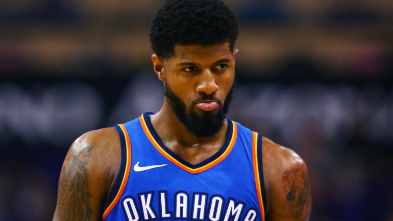 Paul George appears to Pout