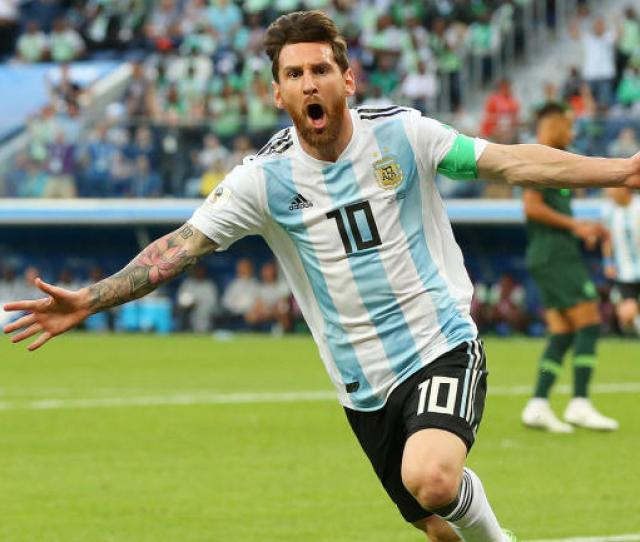 Lionel Messi Scores First  World Cup Goal For Argentina And Diego Maradona Loses It Cbssports Com