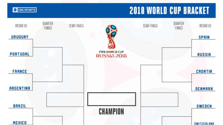 Printable World Cup bracket: Russia 2018 semifinals are ...