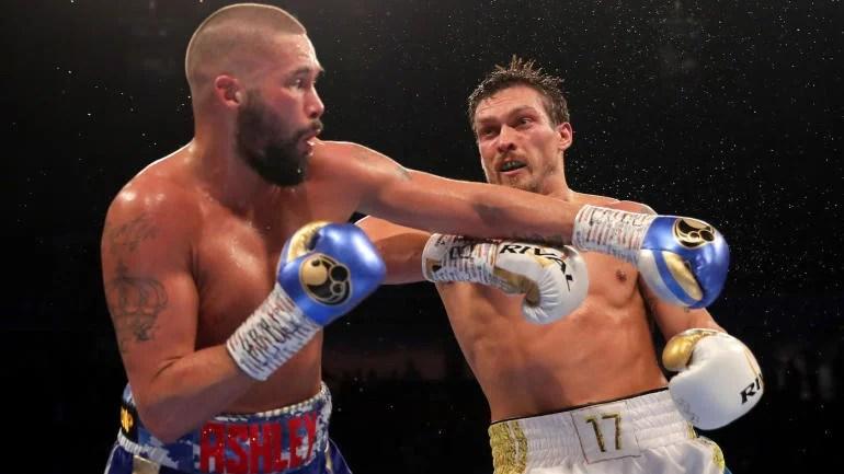 Oleksandr Usyk scores thunderous knockout of Tony Bellew