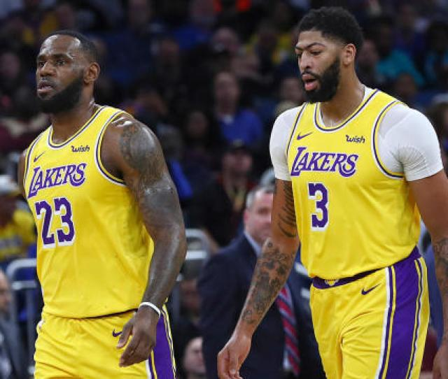 David Blaine Leaves Lakers Stars Lebron James Anthony Davis