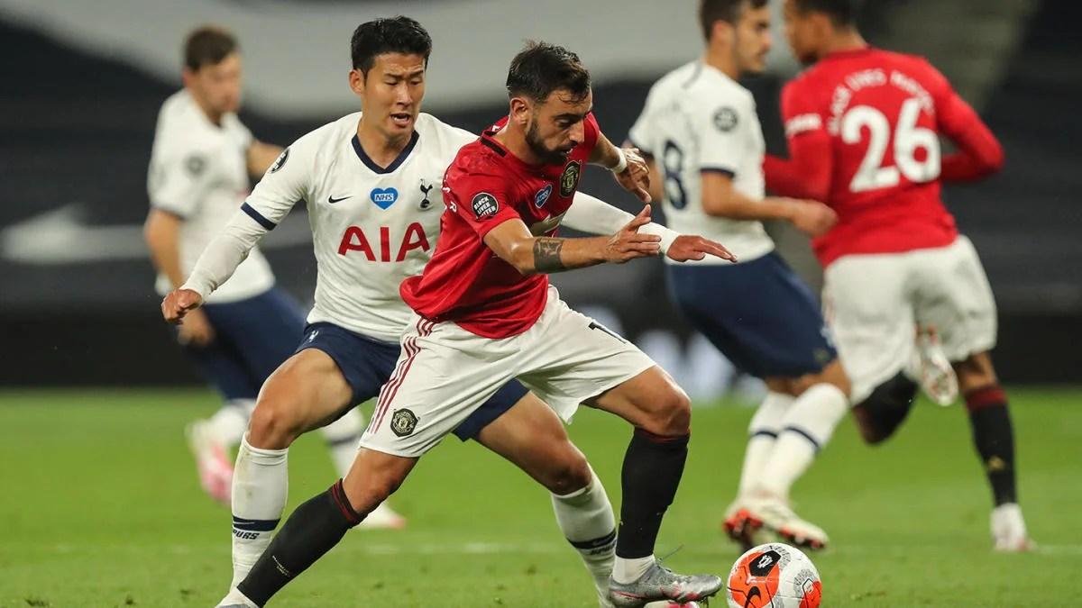 Tottenham-Manchester United score: Bruno Fernandes penalty ...