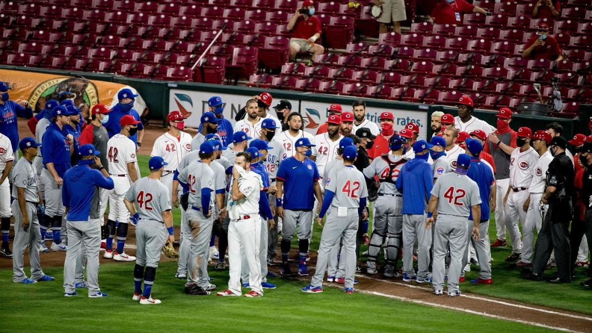 Benches clear after Cubs and Reds exchange high and tight pitches; Reds win on walk-off wild pitch