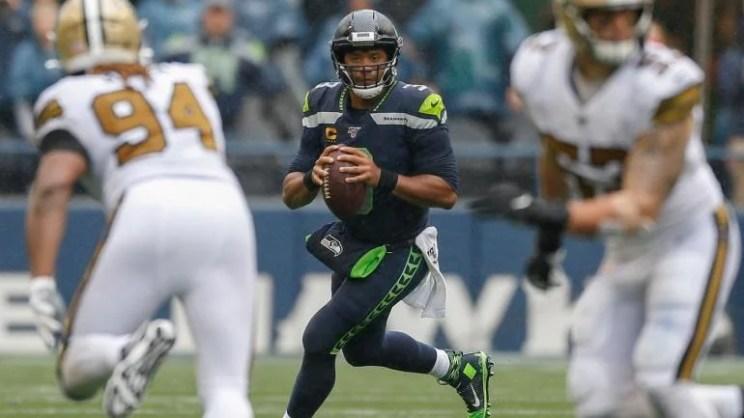 Russell Wilson Seattle Seahawks Saints
