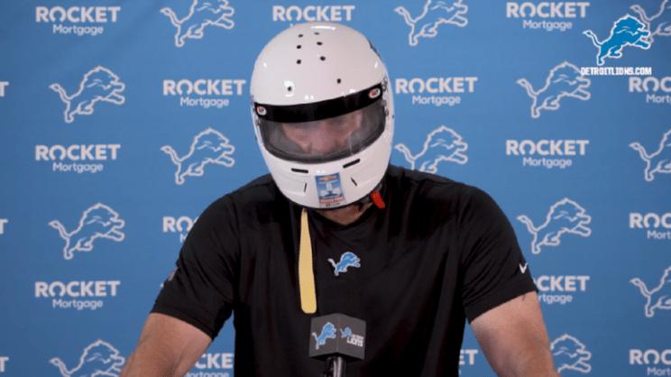 Dan Campbell Detroit Lions Racing Helmet